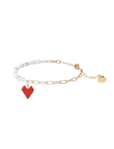 Bracelet PEARLY HEARTSY B