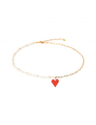 Collier PEARLY HEARTSY